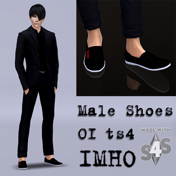 Male Shoes 01 at IMHO Sims 4 image 5421 Sims 4 Updates
