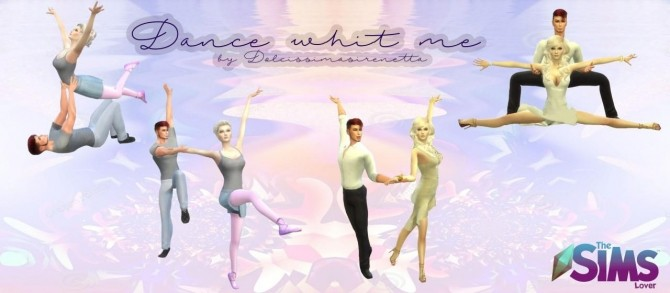 Sims 4 Dance with me couple pose by dolcissimasirenetta at The Sims Lover