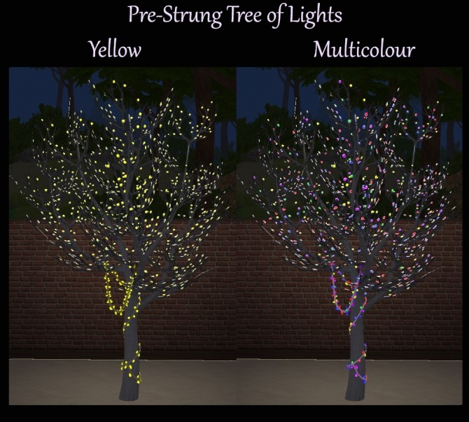 Pre Strung Tree Of Lights Multicolour Recolours By