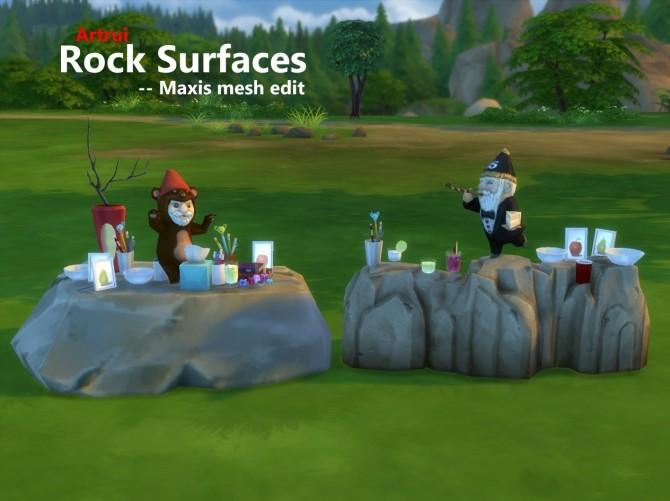 Sims 4 Rock surfaces Maxis mesh edit by artrui at TSR
