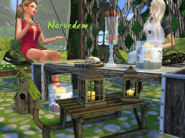 Sims 4 Norvedem 16 objects for outdoor by Kiolometro at Sims Studio