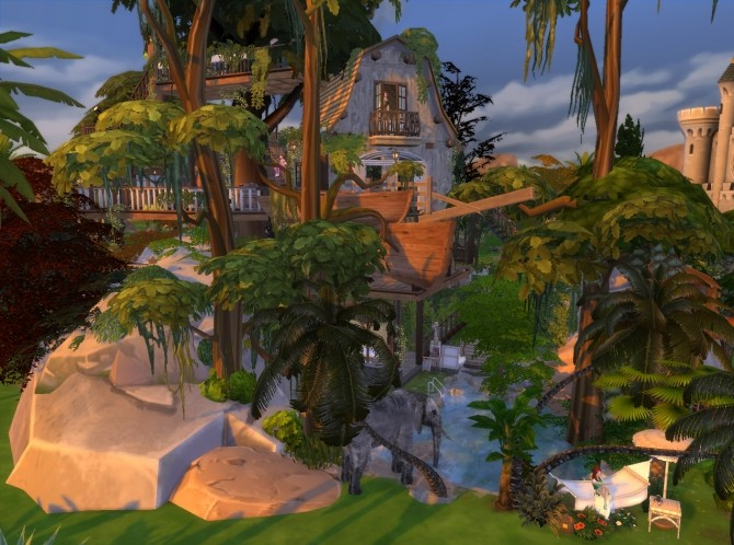 Jungle Adventure All In One Lot By Artrui At Mod The Sims