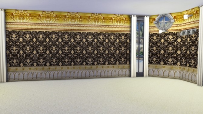 Sims 4 Gold Formal Walls And Floors by Christine11778 at Mod The Sims