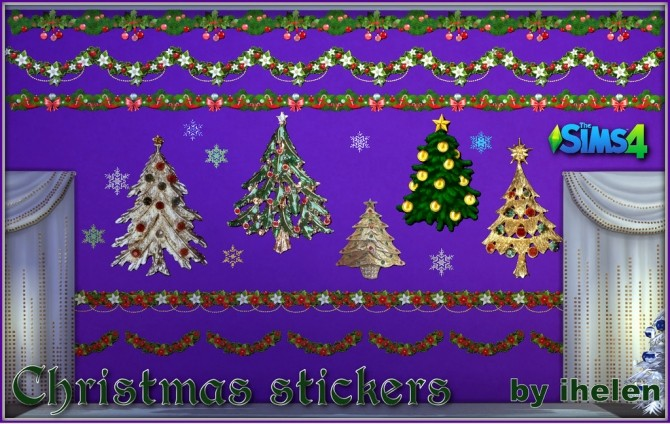 Christmas stickers at ihelensims image 574 670x424 Sims 4 Updates