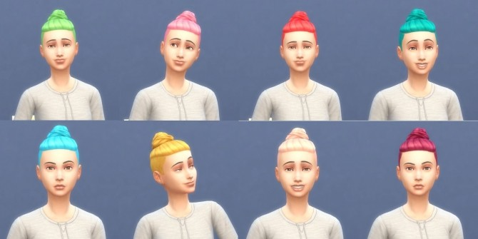 Get To Work Hairs in Hunings Pony Colors by lottidiezweite at Mod The Sims image 576 670x335 Sims 4 Updates