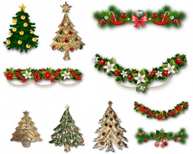 Sims 4 Christmas stickers at ihelensims