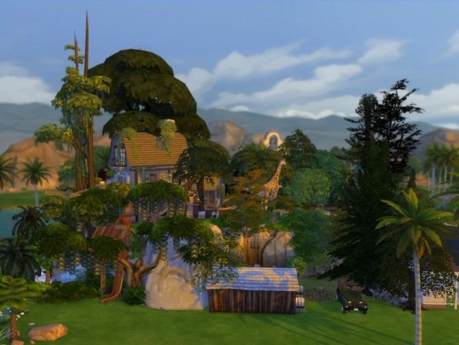 Jungle Adventure All in one lot by artrui at Mod The Sims image 588 670x504 Sims 4 Updates