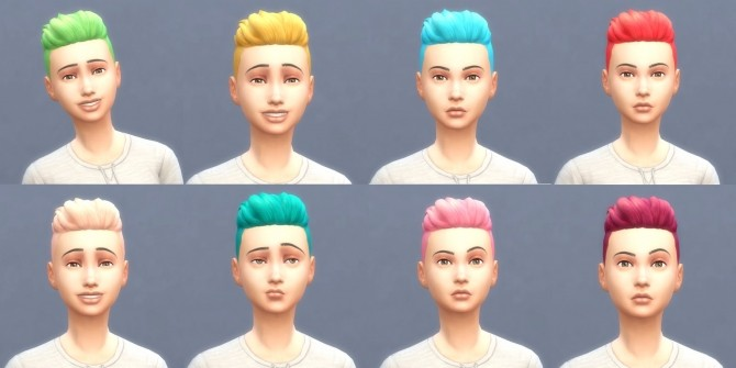 Get To Work Hairs in Hunings Pony Colors by lottidiezweite at Mod The Sims image 596 670x335 Sims 4 Updates