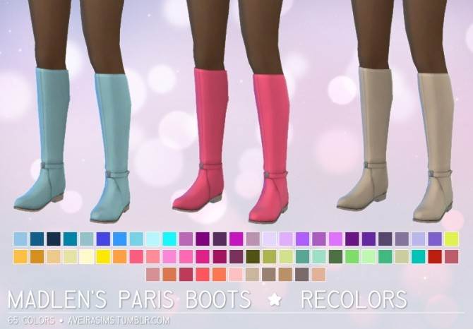 Madlen S Paris Boots Recolors At Aveira Sims 4 187 Sims 4