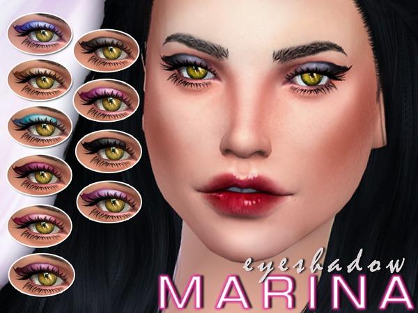 Sims 4 Marinas Eyeshadow by SenpaiSimmer at TSR