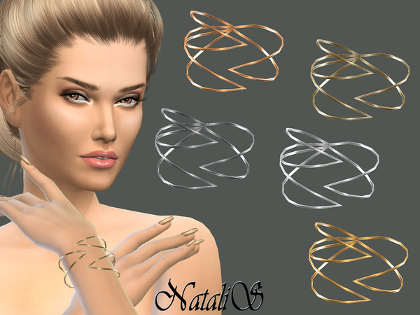 Sims 4 Winged bracelet by NataliS at TSR