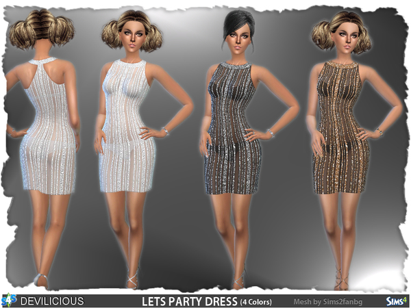 lets party dress by devilicious at tsr 187 sims 4 updates