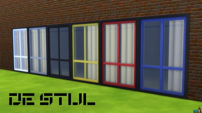De Stijl Windows by Rosana at Sims Network – SNW image 612 670x375 Sims 4 Updates