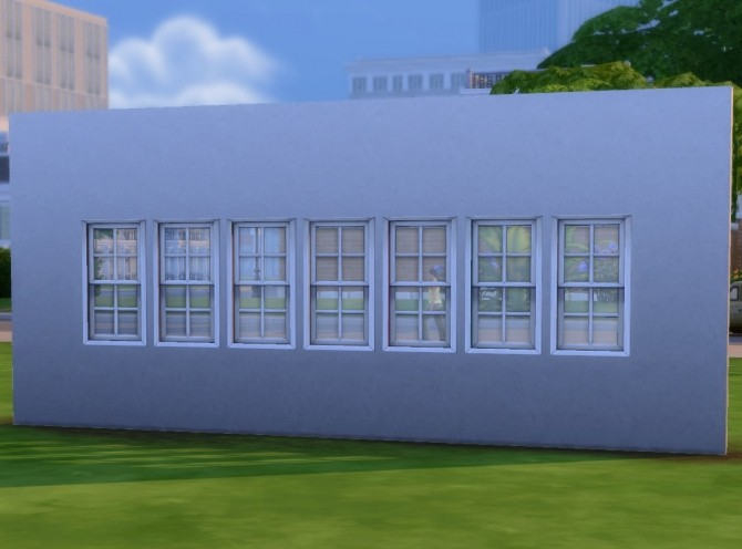 Sims 4 Octopane Window: White Interior by plasticbox at Mod The Sims