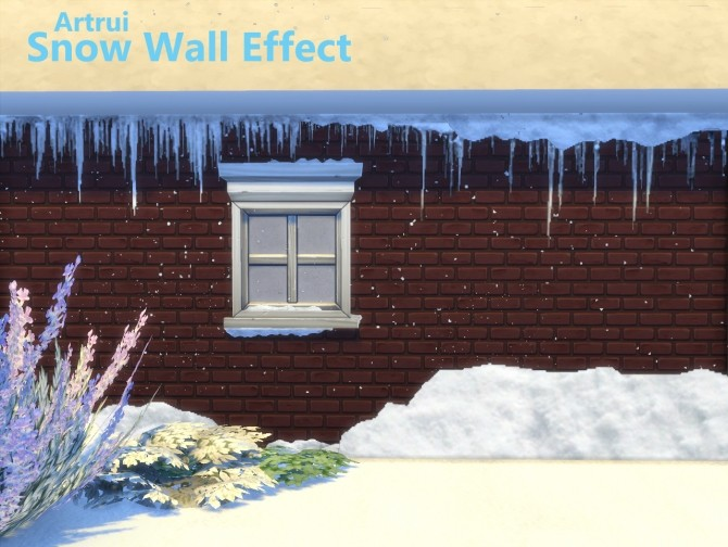 Snow wall effect by artrui at Mod The Sims image 625 670x504 Sims 4 Updates
