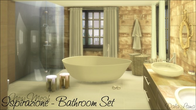 Ispirazione Bathroom Set by DalaiLama at The Sims Lover image 63 670x377 Sims 4 Updates