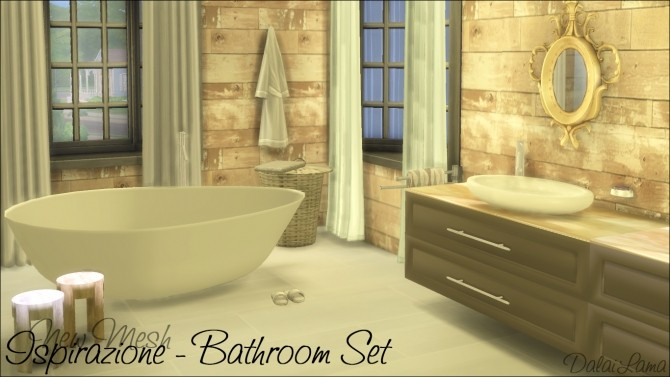Ispirazione Bathroom Set by DalaiLama at The Sims Lover image 64 670x377 Sims 4 Updates