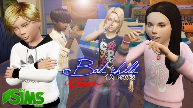 Bad Child Poses By Clover At The Sims Lover 187 Sims 4 Updates