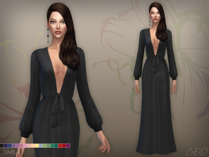 Sims 4 DRESS 030 (S3 CONVERSION) at BEO Creations