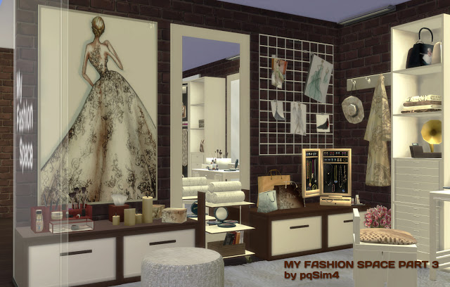 Sims 4 My Fashion Space Part 3 by Mary Jiménez at pqSims4