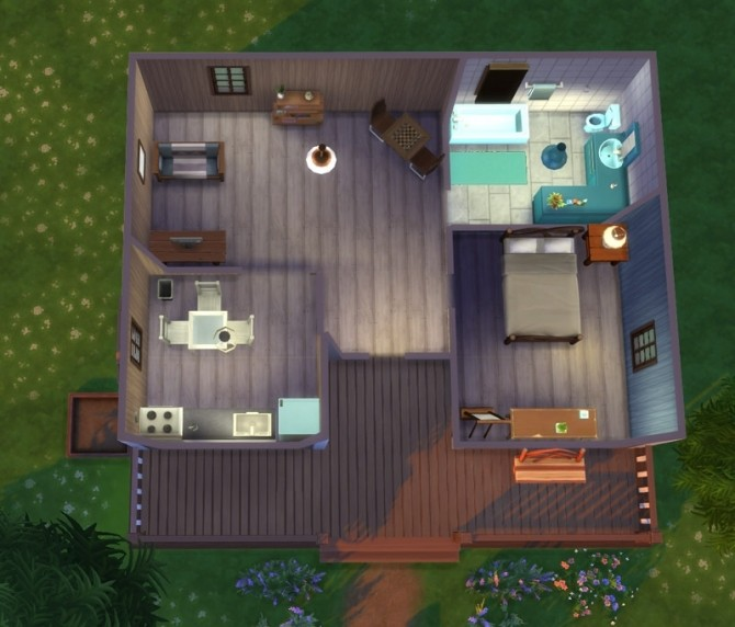 Sims 4 La Montagnette house by Koelia at Sims Artists