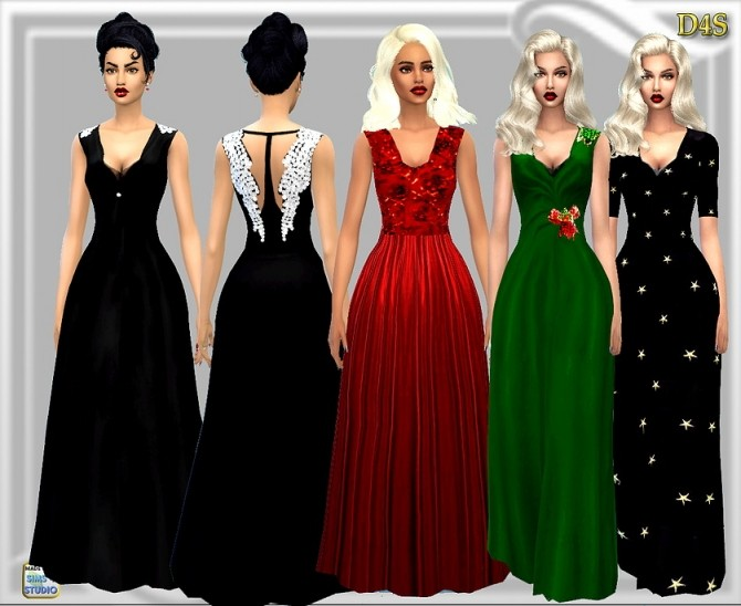 Wing Gown At Dreaming 4 Sims 187 Sims 4 Updates
