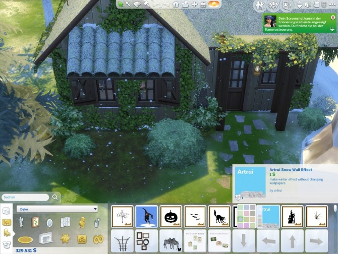 Sims 4 Snow wall effect by artrui at Mod The Sims