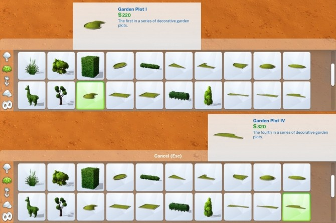 Sims 4 Liberated Garden Plots by plasticbox at Mod The Sims