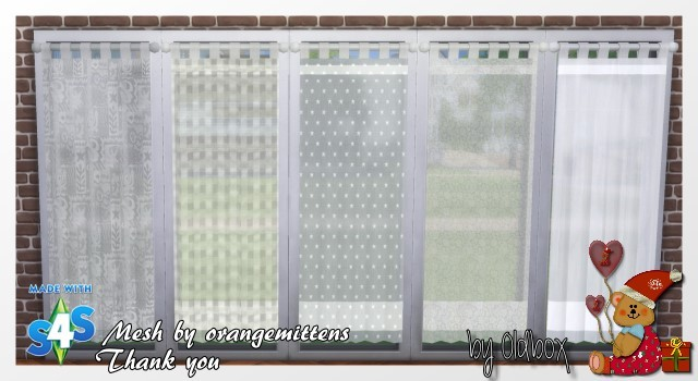 Curtains By Oldbox At All 4 Sims 187 Sims 4 Updates