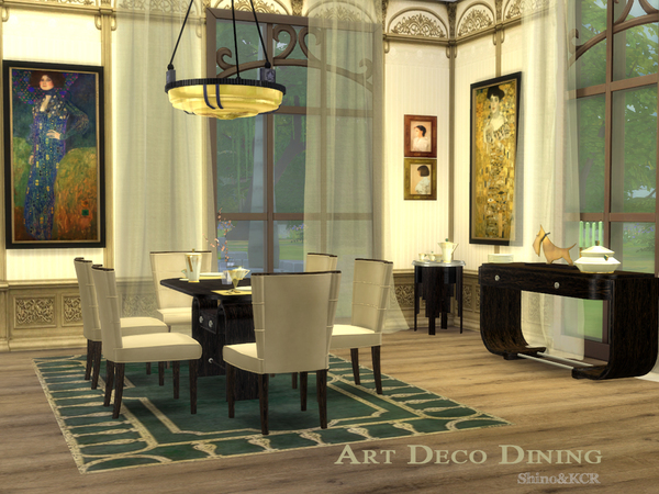 Sims 4 Art Deco Dining by ShinoKCR at TSR