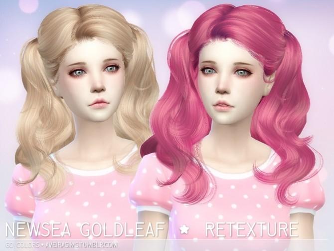 Sims 4 Newsea Goldleaf retexture at Aveira Sims 4