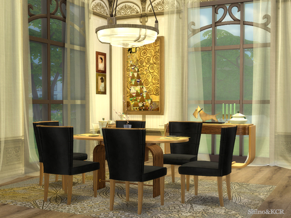 Art Deco Dining by ShinoKCR at TSR image 6922 Sims 4 Updates