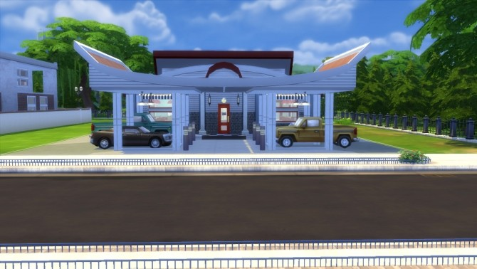 Sims 4 50s Themed Diner by clw8 at Mod The Sims