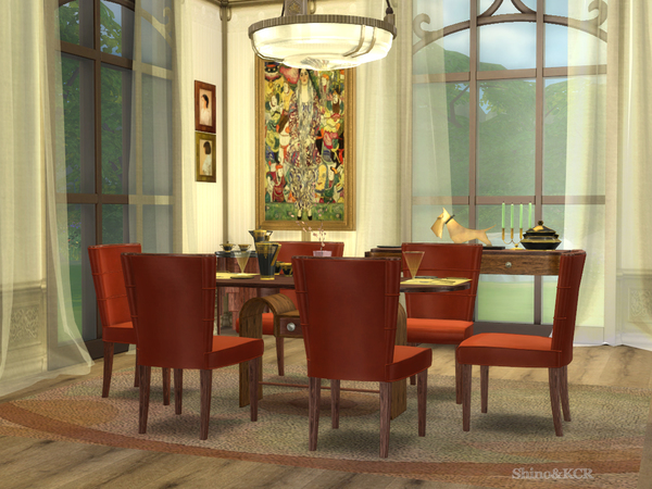 Art Deco Dining by ShinoKCR at TSR image 7022 Sims 4 Updates