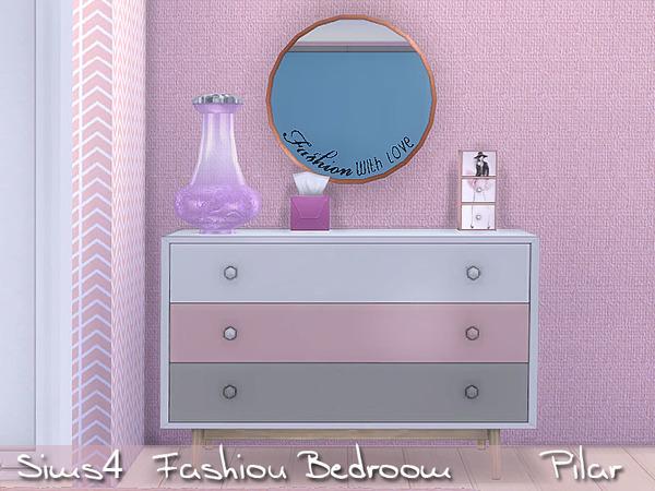 Sims 4 Fashion Bedroom by Pilar at TSR