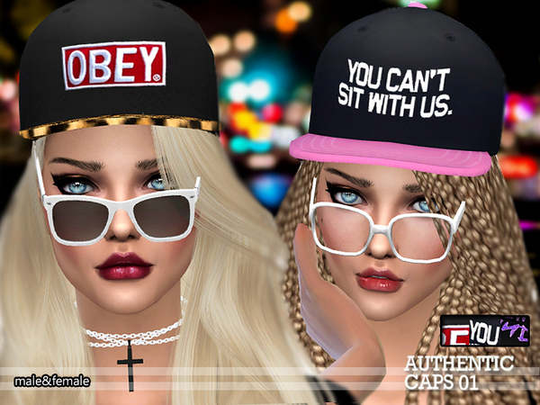 PZC Authentic Caps 01 by Pinkzombiecupcakes at TSR image 7108 Sims 4 Updates