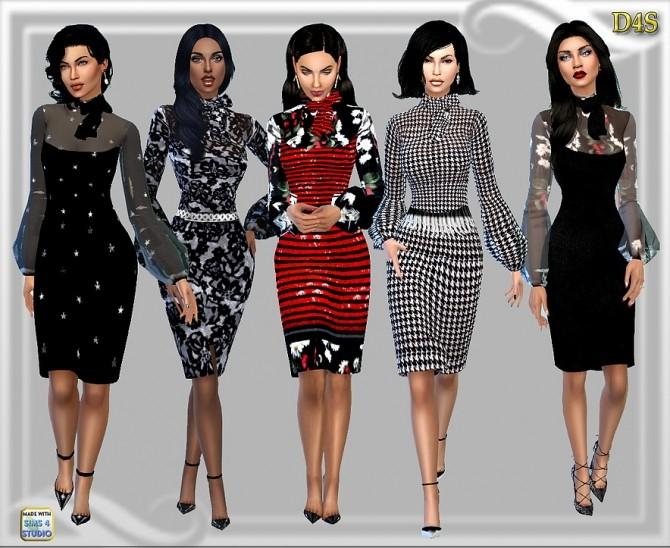 Sims 4 Designer look bow dress at Dreaming 4 Sims
