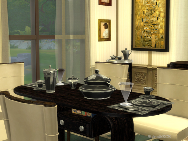 Art Deco Dining by ShinoKCR at TSR image 7132 Sims 4 Updates