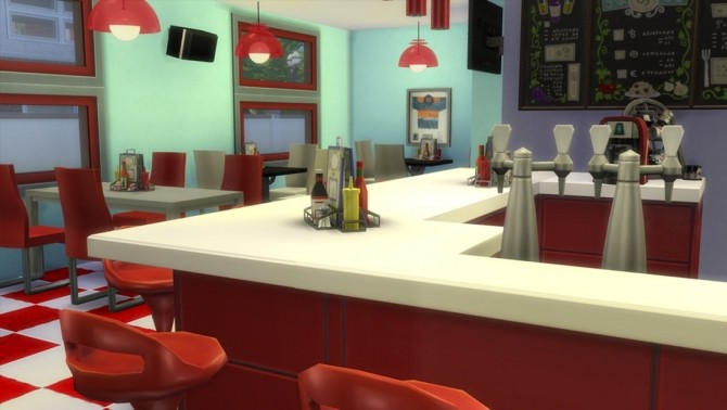 50s Themed Diner By Clw8 At Mod The Sims 187 Sims 4 Updates