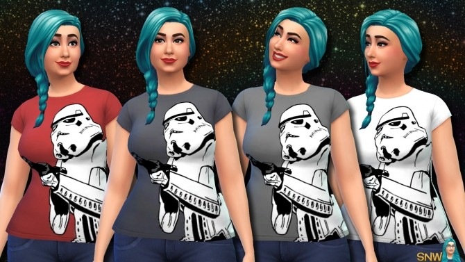 Sims 4 Star Wars Stormtrooper Shirts for women at Sims Network – SNW