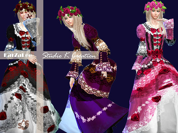 Versailles Chic HiZaki dress at Studio K Creation image 724 Sims 4 Updates