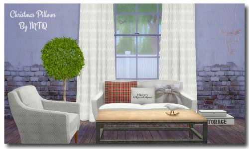 Sims 4 Christmas Pillows at Msteaqueen