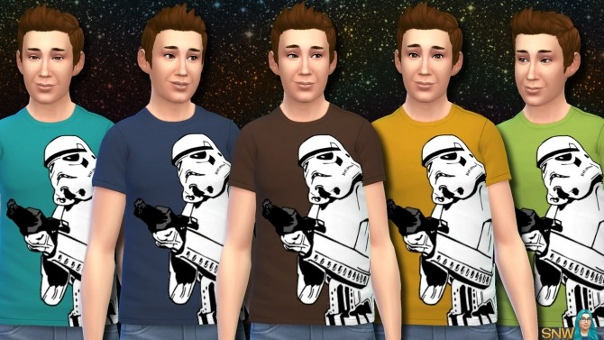 Sims 4 Star Wars Stormtrooper Shirts for men at Sims Network – SNW