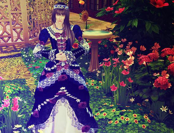 Versailles Chic HiZaki dress at Studio K Creation image 744 Sims 4 Updates