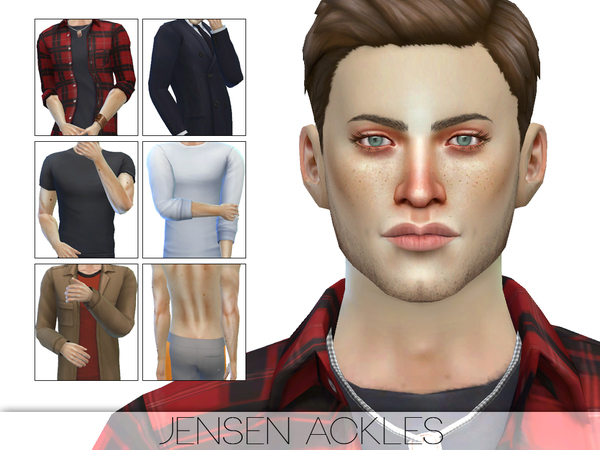 Sims 4 Jensen Ackles by Pralinesims at TSR