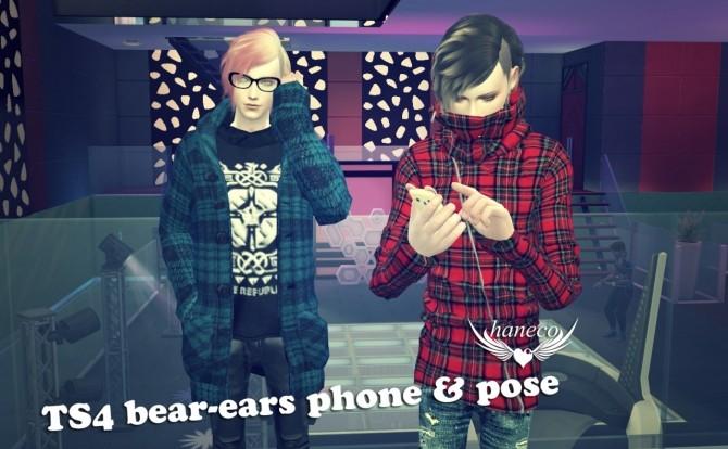 Bear Ears Phone And Poses At Haneco S Box 187 Sims 4 Updates