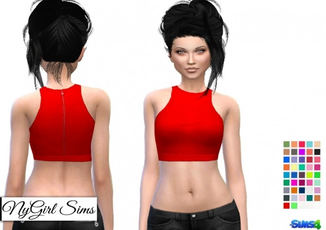 Sims 4 Zip Up Racer Back Crop at NyGirl Sims