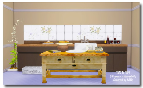 Sillymee's Possumbelly Baking Decor & Butcher Block Table at Msteaqueen image 808 Sims 4 Updates