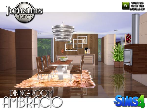 Sims 4 Ambracio dining room by jomsims at TSR