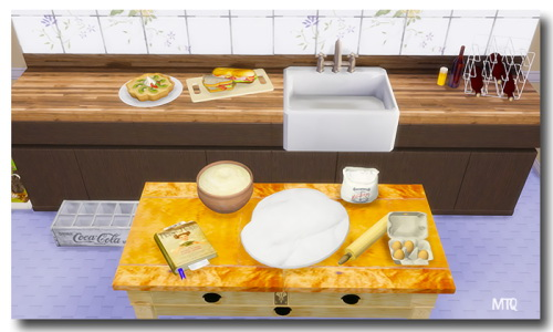 Sillymee's Possumbelly Baking Decor & Butcher Block Table at Msteaqueen image 8113 Sims 4 Updates